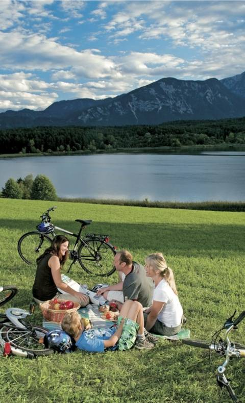 Turnersee Radfahren mit der Familie