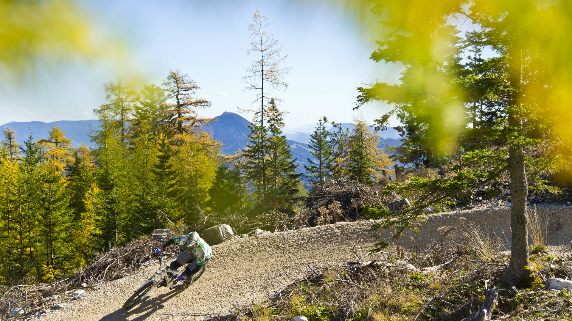Mountainbike am Flow Country Trail