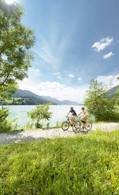 Radfahren am Weissensee