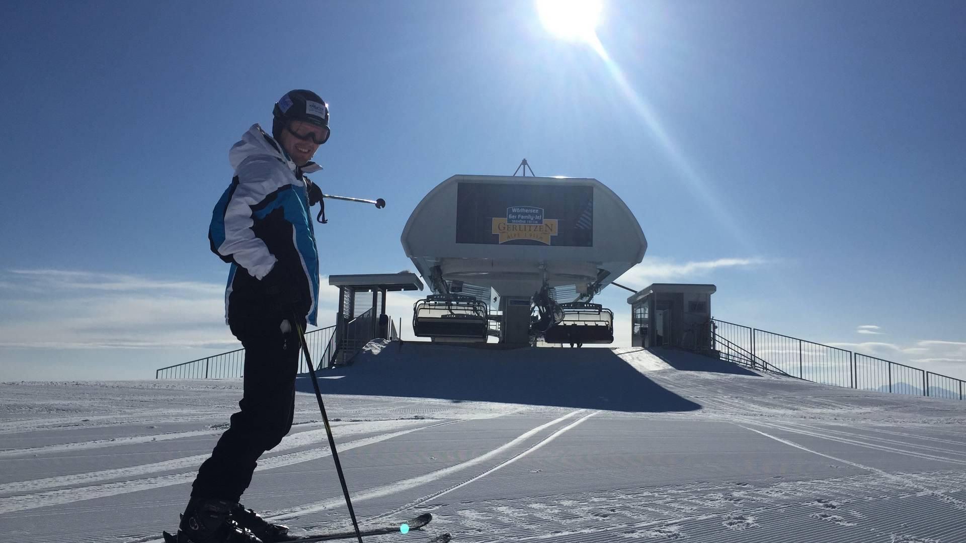 Ski und Golf, Skifahren auf der Gerlitzen