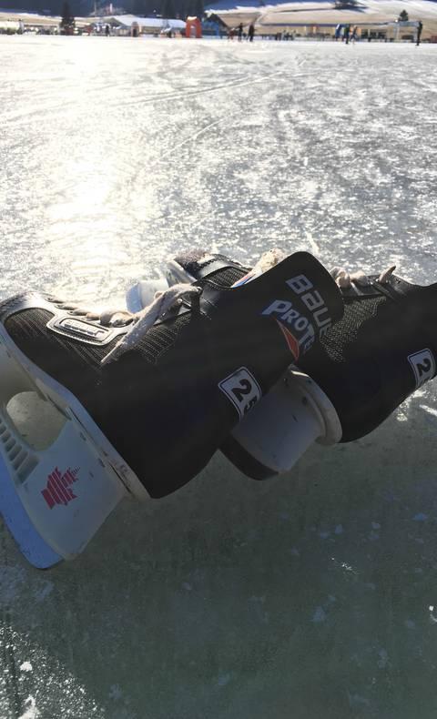 Eislaufen am Weissensee