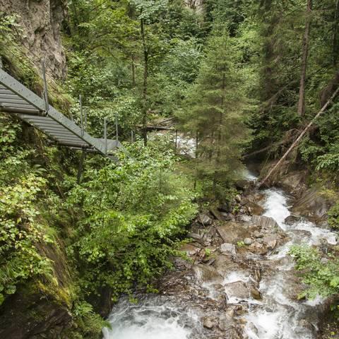 Mühldorf mit der Barbarossaschlucht in der Nationalpark-Region Hohe Tauern