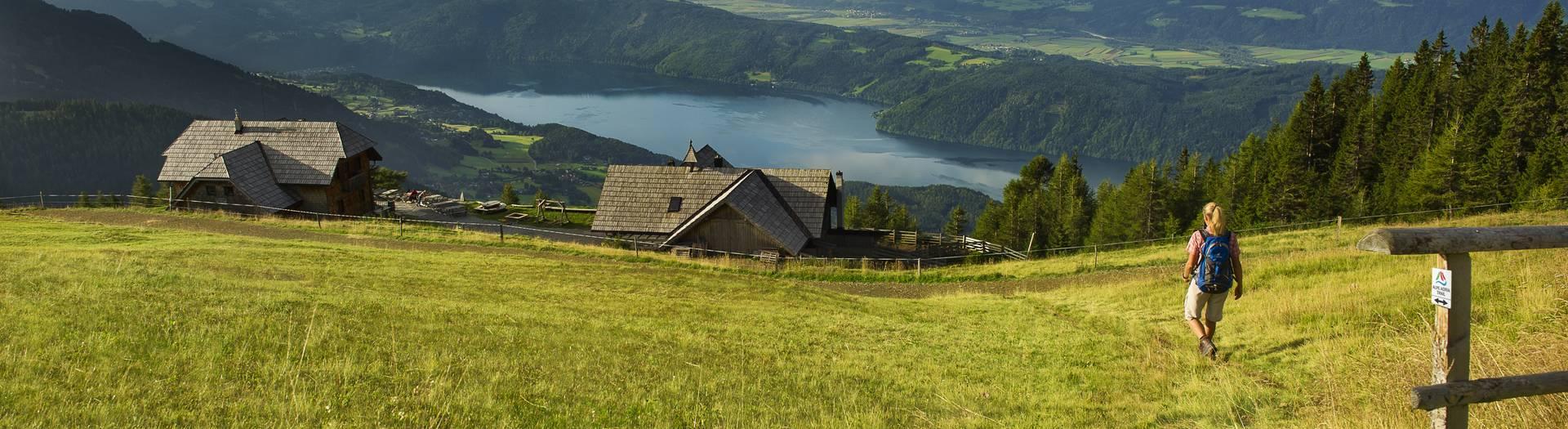 Blick auf den Millstätter See von der Millstätter Alpe