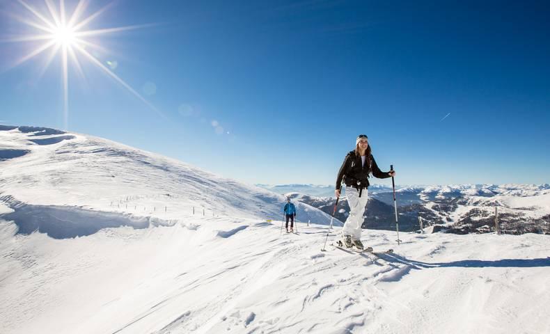 Am Nockberge Trail im Schnee