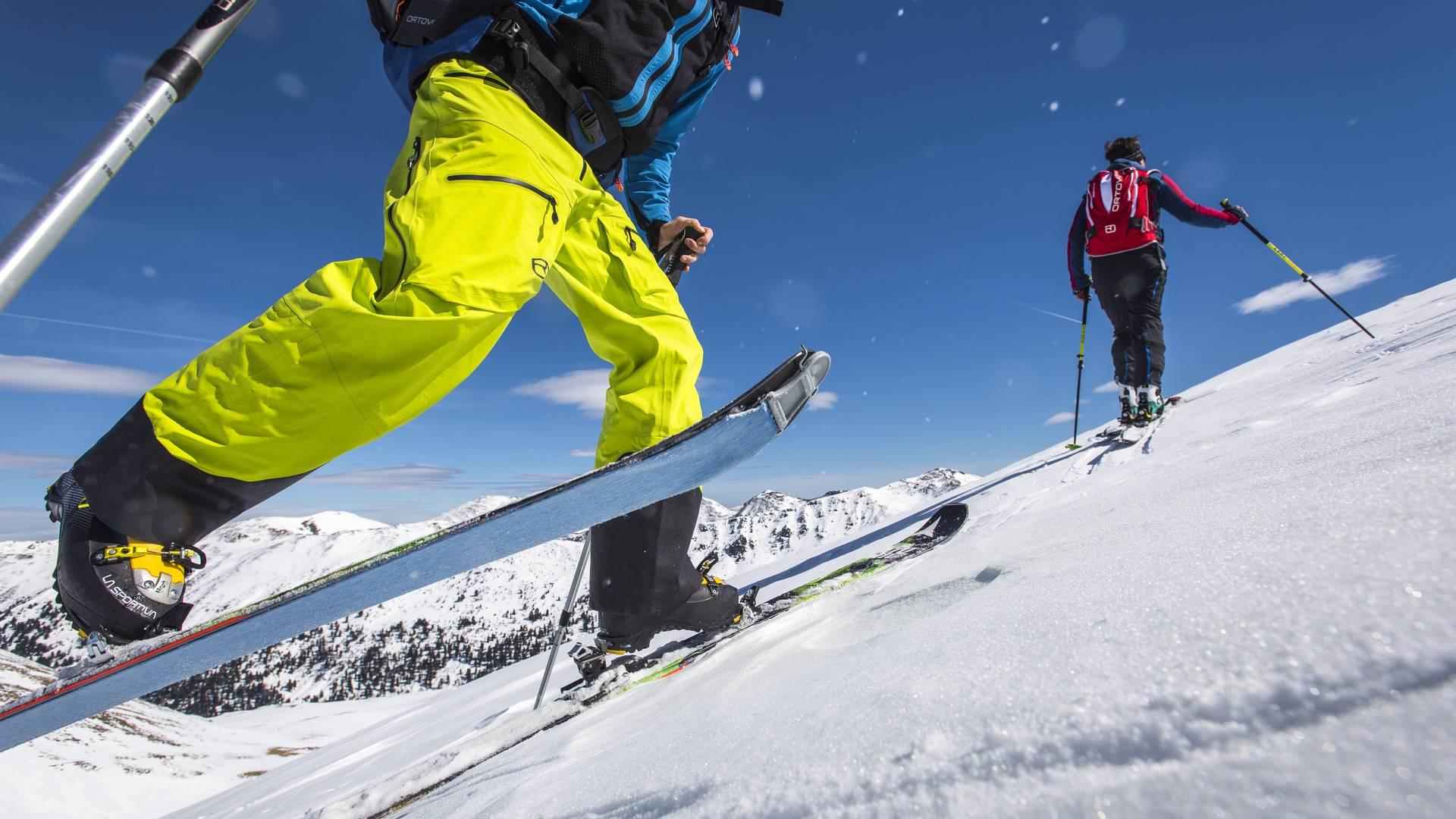 Nockberge Trail Spitzkehrentechnik Skitourengehen