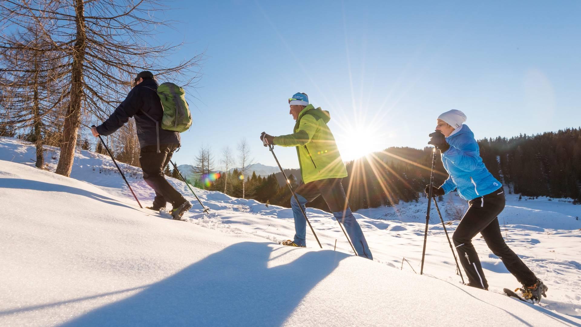 Neusacher Moser_Schneeschuhwandern am Weissensee