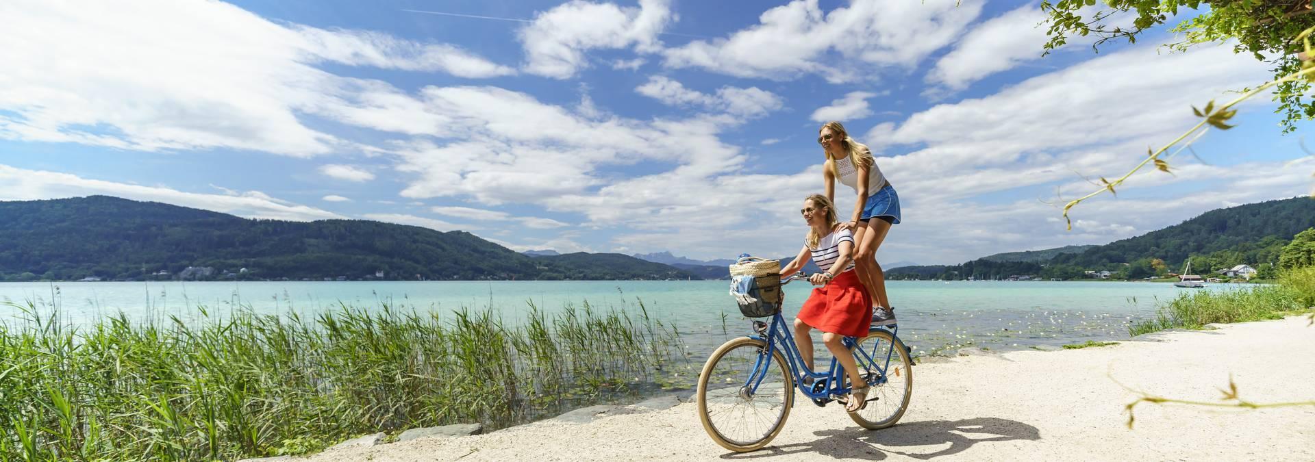 Radfahren Woerthersee