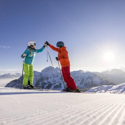 Nassfeld Sportliches Skifahren2 c nassfeld.at Martin Lugger Photography